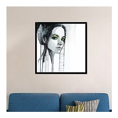 Naxart 'Green Eyes' Framed Painting Print on Canvas; 38'' H x 38'' W x 1.5'' D