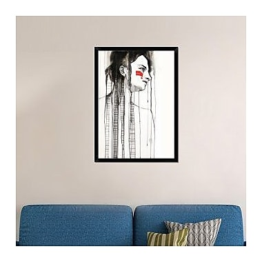 Naxart 'Red Stripes' Framed Painting Print on Canvas; 38'' H x 28'' W x 1.5'' D