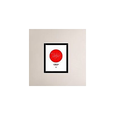 Naxart 'London Red Subway Map' Framed Graphic Art Print; 22'' H x 18'' W x 1.5'' D