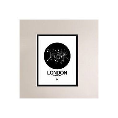 Naxart 'London Black Subway Map' Framed Graphic Art Print; 38'' H x 30'' W x 1.5'' D
