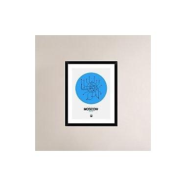 Naxart 'Moscow Blue Subway Map' Framed Graphic Art Print; 30'' H x 24'' W x 1.5'' D