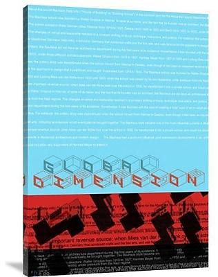 Naxart 'Global Dimension' Textual Art on Canvas; 40'' H x 28'' W x 1.5'' D