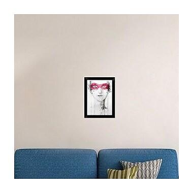 Naxart 'Mask' Framed Painting Print on Canvas; 18'' H x 13'' W x 1.5'' D