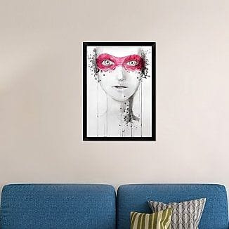 Naxart 'Mask' Framed Painting Print on Canvas; 32'' H x 23'' W x 1.5'' D