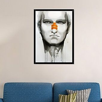 Naxart 'Determination' Framed Painting Print on Canvas; 42'' H x 30'' W x 1.5'' D
