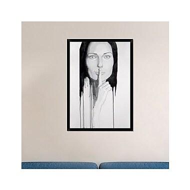 Naxart 'Our Secret' Framed Painting Print on Canvas; 42'' H x 30'' W x 1.5'' D