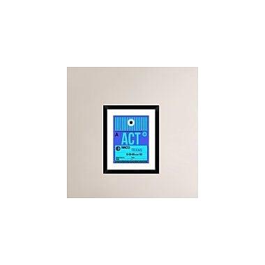 Naxart 'ACT Waco Luggage Tag II' Framed Graphic Art Print; 22'' H x 18'' W x 1.5'' D