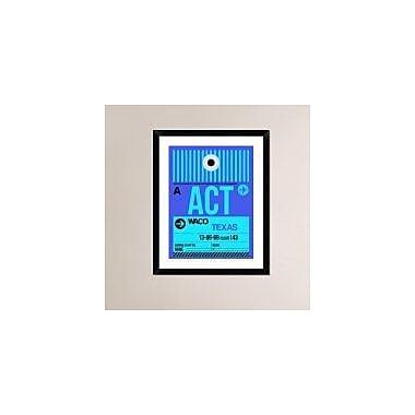 Naxart 'ACT Waco Luggage Tag II' Framed Graphic Art Print; 30'' H x 24'' W x 1.5'' D