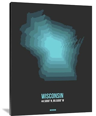 Naxart 'Wisconsin Radiant Map 5' Graphic Art Print on Canvas; 16'' H x 12'' W x 1.5'' D