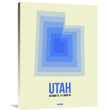 Naxart 'Utah Radiant Map 1' Graphic Art Print on Canvas; 40'' H x 30'' W x 1.5'' D