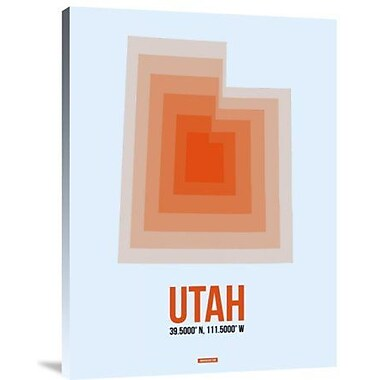 Naxart 'Utah Radiant Map 2' Graphic Art Print on Canvas; 24'' H x 18'' W x 1.5'' D