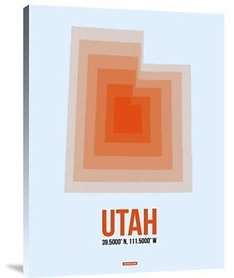Naxart 'Utah Radiant Map 2' Graphic Art Print on Canvas; 32'' H x 24'' W x 1.5'' D