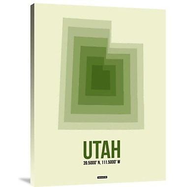 Naxart 'Utah Radiant Map 4' Graphic Art Print on Canvas; 40'' H x 30'' W x 1.5'' D