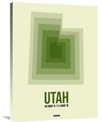 Naxart 'Utah Radiant Map 4' Graphic Art Print on Canvas; 40'' H x 30'' W x 1.5'' D