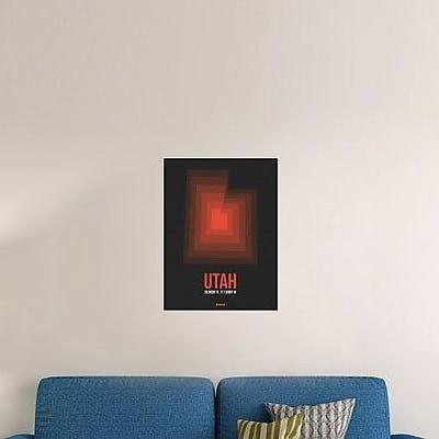 Naxart 'Utah Radiant Map 6' Graphic Art Print on Canvas; 32'' H x 24'' W x 1.5'' D