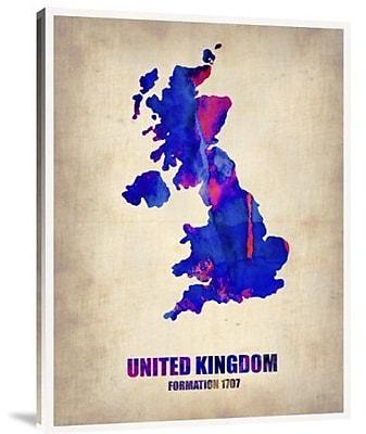 Naxart 'United Kingdom Watercolor Map' Graphic Art Print on Canvas; 40'' H x 30'' W x 1.5'' D