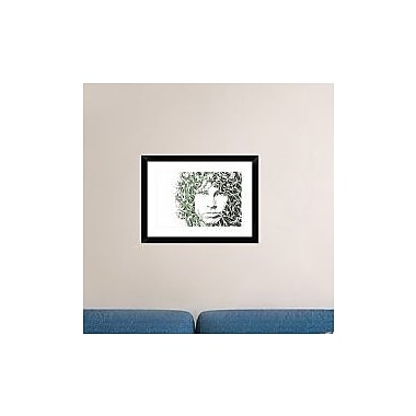 Naxart 'Jim Morrison' Framed Graphic Art Print; 18'' H x 24'' W x 1.5'' D