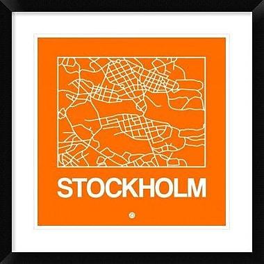Naxart 'Orange Map of Stockholm' Framed Graphic Art Print; 30'' H x 30'' W x 1.5'' D