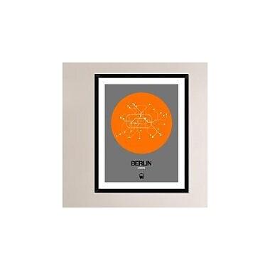 Naxart 'Berlin Orange Subway Map' Framed Graphic Art Print; 38'' H x 30'' W x 1.5'' D