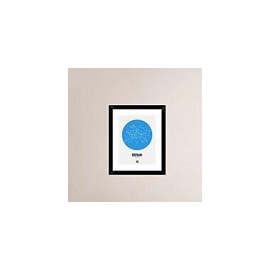 Naxart 'Berlin Blue Subway Map' Framed Graphic Art Print; 22'' H x 18'' W x 1.5'' D