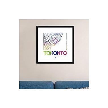 Naxart 'Toronto Watercolor Street Map' Framed Graphic Art Print; 30'' H x 30'' W x 1.5'' D