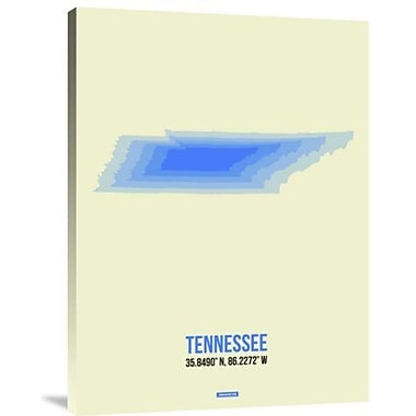Naxart 'Tennessee Radiant Map 1' Graphic Art Print on Canvas; 24'' H x 18'' W x 1.5'' D