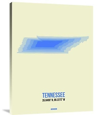 Naxart 'Tennessee Radiant Map 1' Graphic Art Print on Canvas; 40'' H x 30'' W x 1.5'' D