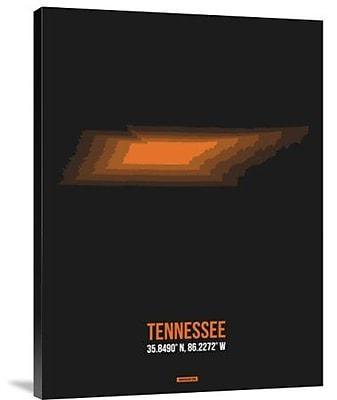 Naxart 'Tennessee Radiant Map 5' Graphic Art Print on Canvas; 24'' H x 18'' W x 1.5'' D