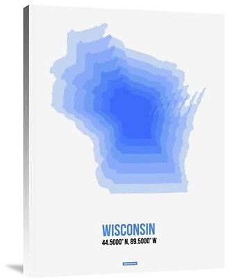 Naxart 'Wisconsin Radiant Map 1' Graphic Art Print on Canvas; 32'' H x 24'' W x 1.5'' D
