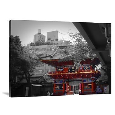 Naxart 'Temple in Tokyo' Photographic Print on Canvas; 12'' H x 16'' W x 1.5'' D