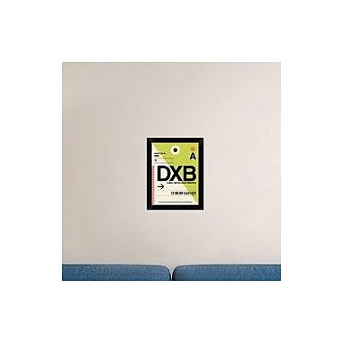 Naxart 'DXB Dubai Luggage Tag I' Framed Graphic Art Print on Canvas; 18'' H x 14'' W x 1.5'' D