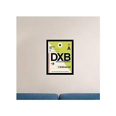 Naxart 'DXB Dubai Luggage Tag I' Framed Graphic Art Print on Canvas; 26'' H x 20'' W x 1.5'' D