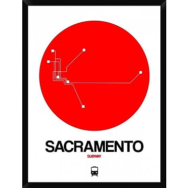 Naxart 'Sacramento Red Subway Map' Framed Graphic Art Print on Canvas; 42'' H x 32'' W x 1.5'' D