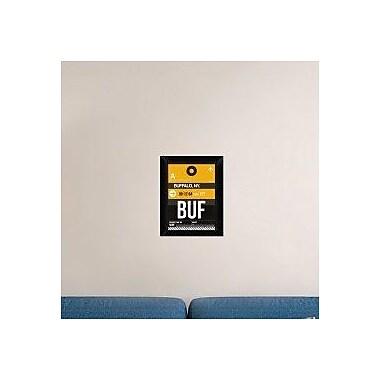 Naxart 'BUF Buffalo Luggage Tag II' Framed Graphic Art Print on Canvas; 18'' H x 14'' W x 1.5'' D