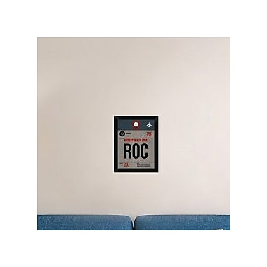 Naxart 'ROC Rochester Luggage Tag I' Framed Graphic Art Print on Canvas; 18'' H x 14'' W x 1.5'' D