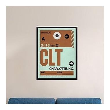 Naxart 'CLT Charlotte Luggage Tag I' Framed Graphic Art Print on Canvas; 42'' H x 32'' W x 1.5'' D