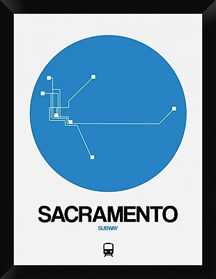 Naxart 'Sacramento Blue Subway Map' Framed Graphic Art Print on Canvas; 26'' H x 20'' W x 1.5'' D