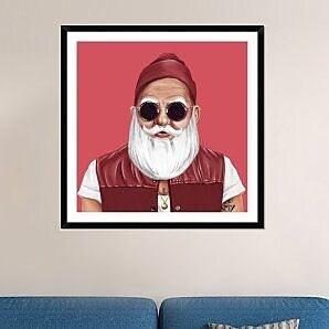Naxart 'Santa' Framed Painting Print; 42'' H x 42'' W x 1.5'' D