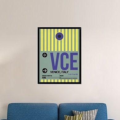 Naxart 'VCE Venice Luggage Tag I' Framed Graphic Art Print on Canvas; 42'' H x 32'' W x 1.5'' D