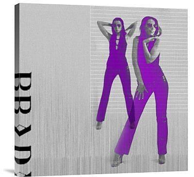 Naxart 'Kristina in Purple' Graphic Art Print on Canvas; 18'' H x 18'' W x 1.5'' D