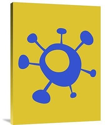 Naxart 'Funny Shape Sun 1' Graphic Art Print on Canvas; 32'' H x 24'' W x 1.5'' D