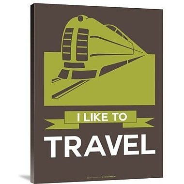 Naxart 'I Like to Travel 2' Graphic Art Print on Canvas; 16'' H x 12'' W x 1.5'' D