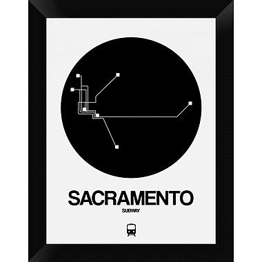 Naxart 'Sacramento Black Subway Map' Framed Graphic Art Print on Canvas; 18'' H x 14'' W x 1.5'' D