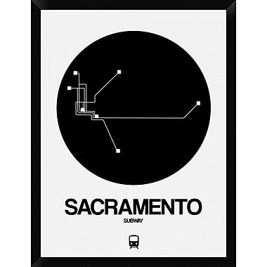 Naxart 'Sacramento Black Subway Map' Framed Graphic Art Print on Canvas; 34'' H x 26'' W x 1.5'' D