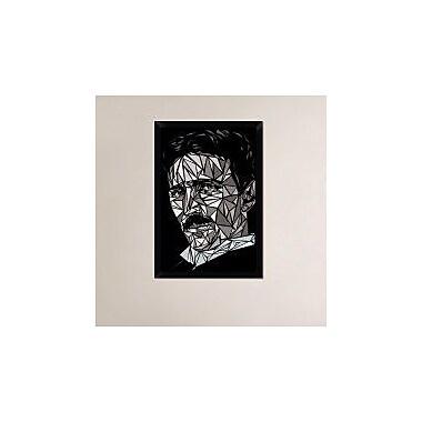 Naxart 'Nikola Tesla' Framed Graphic Art Print on Canvas; 32'' H x 22'' W x 1.5'' D
