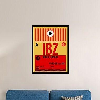 Naxart 'IBZ Ibiza Luggage Tag I' Framed Graphic Art Print on Canvas; 42'' H x 32'' W x 1.5'' D