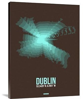 Naxart 'Dublin Radiant Map 2' Graphic Art Print on Canvas; 24'' H x 18'' W x 1.5'' D
