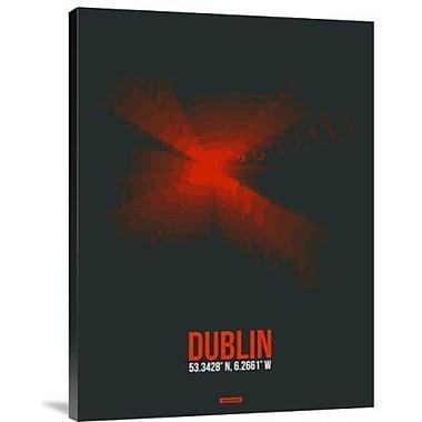 Naxart 'Dublin Radiant Map 3' Framed Graphic Art Print on Canvas; 26'' H x 20'' W x 1.5'' D