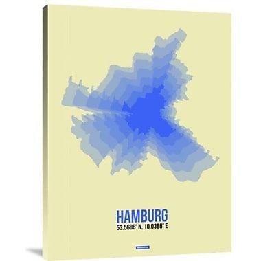 Naxart 'Hamburg Radiant Map 2' Graphic Art Print on Canvas; 32'' H x 24'' W x 1.5'' D