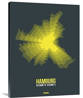Naxart 'Hamburg Radiant Map 3' Graphic Art Print on Canvas; 16'' H x 12'' W x 1.5'' D
